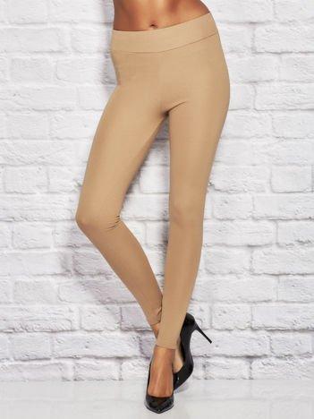 Beżowe legginsy basic