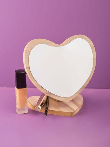 Beżowe lustro kosmetyczne