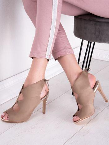Beżowe sandały SABATINA bez pięt