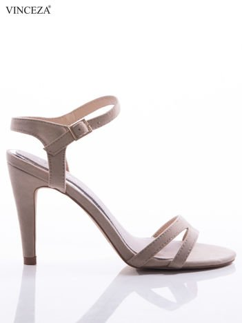 Beżowe sandały Vinceza ze skórzaną wkładką