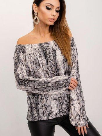 Beżowo-czarna bluzka Laura