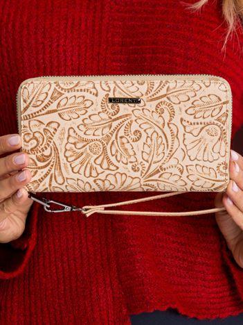 Beżowy portfel skórzany