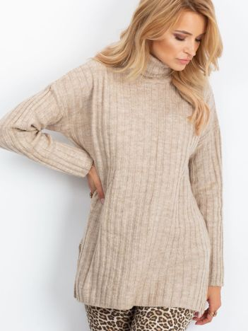 Beżowy sweter Aubrie