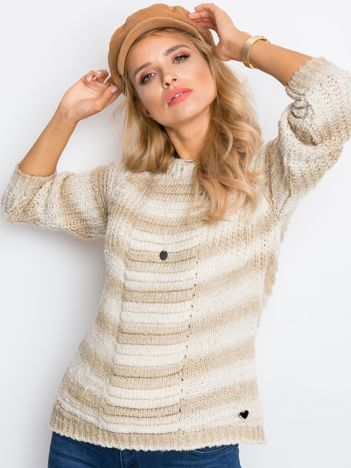 Beżowy sweter Getaway