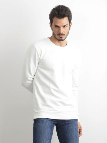 Biała bawełniana bluza męska
