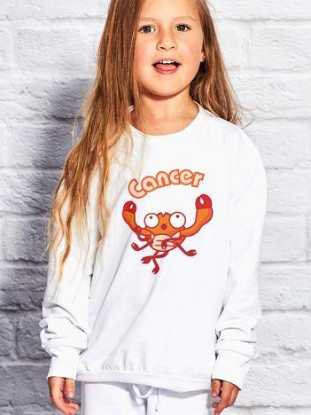 Biała bluza dziecięca znak zodiaku RAK