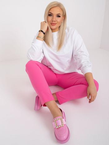 Biała bluza plus size bez kaptura Harmony