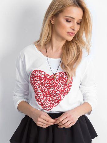 Biała bluzka Heartie