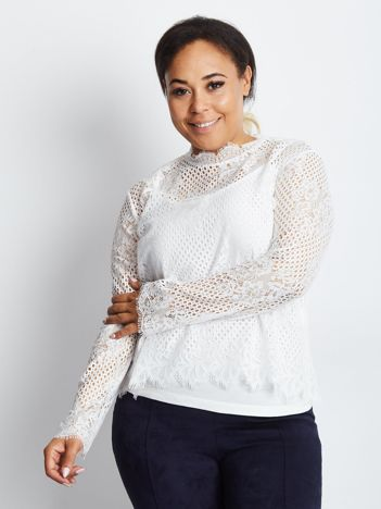 Biała bluzka plus size Endurance
