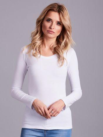 Biała bluzka z długim rękawem