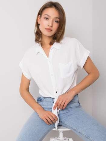 Biała bluzka z wiązaniem Marisol
