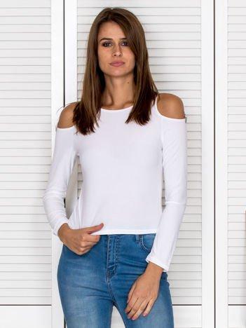 Biała bluzka z wycięciami