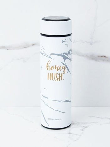 Biała butelka termiczna na picie