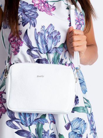 Biała damska torba ze skóry