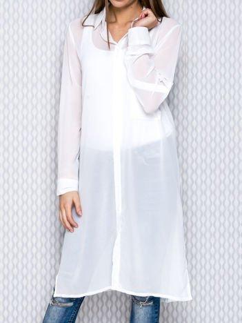Biała długa koszula mgiełka