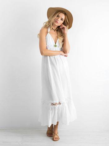 Biała długa sukienka BY O LA LA