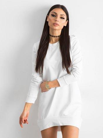 Biała dresowa tunika basic