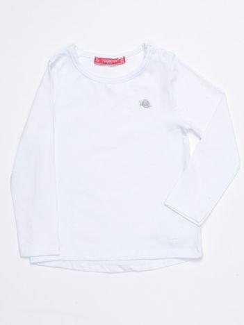 Biała gładka bluzka dziewczęca