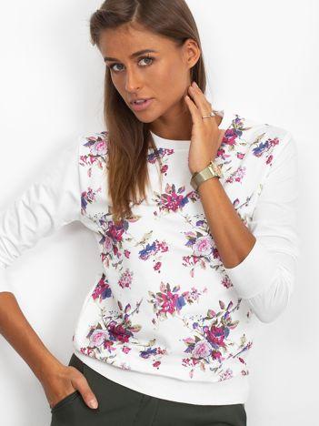 Biała klasyczna bluza damska