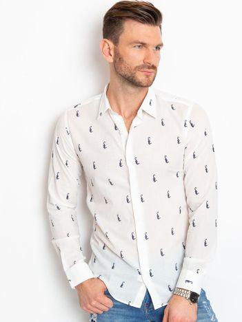 Biała koszula męska Russell