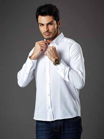 Biała koszula męska regular fit