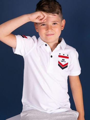 Biała koszulka polo dla chłopca TOMMY LIFE