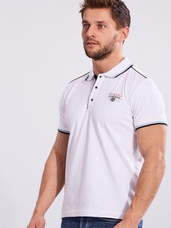 Biała koszulka polo dla mężczyzny