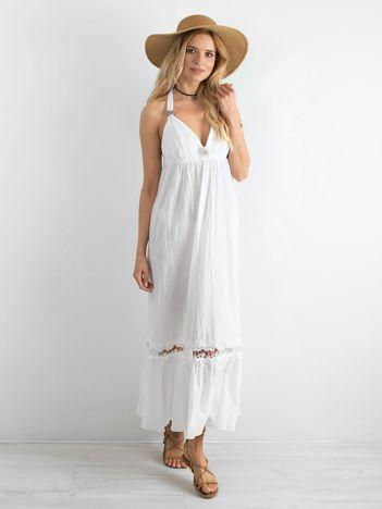 Biała letnia sukienka BY O LA LA