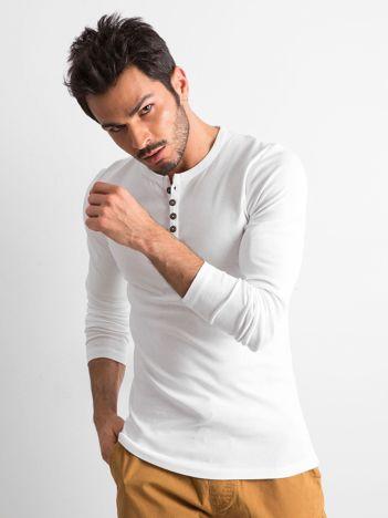 Biała męska bluzka z długim rękawem
