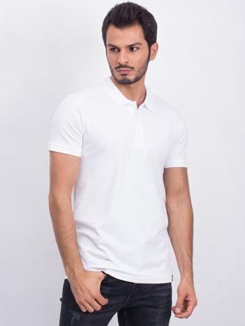 Biała męska koszulka polo Numerous