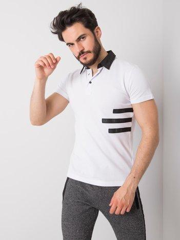 Biała męska koszulka polo Vincent