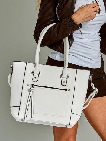 Biała miejska torba z odpinanym paskiem