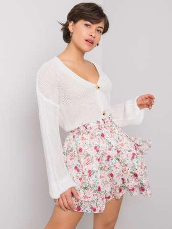 Biała spódnica w kwiaty Jussie