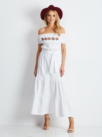 Biała sukienka Corsica