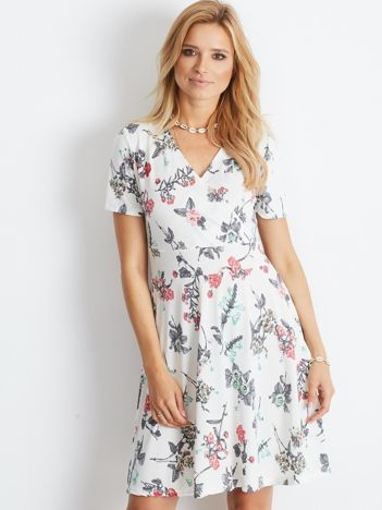 Biała sukienka Rambling