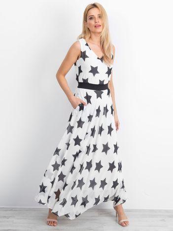 Biała sukienka Stardust