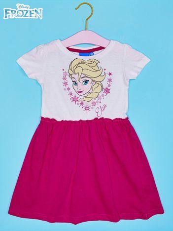 Biała sukienka dla dziewczynki KRAINA LODU