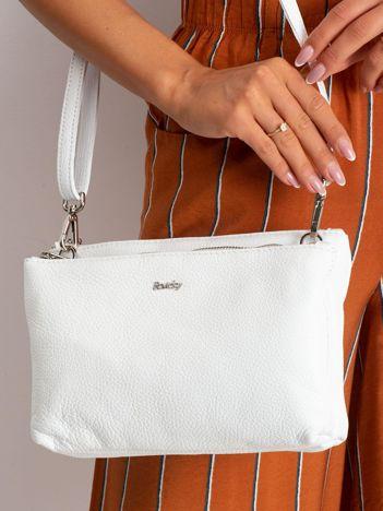 Biała torebka damska ze skóry naturalnej