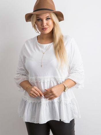 Biała tunika boho