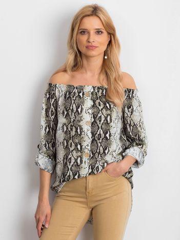 Biała wzorzysta bluzka hiszpanka
