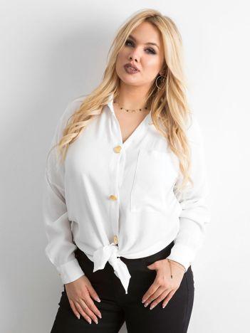 Biała zwiewna koszula oversize