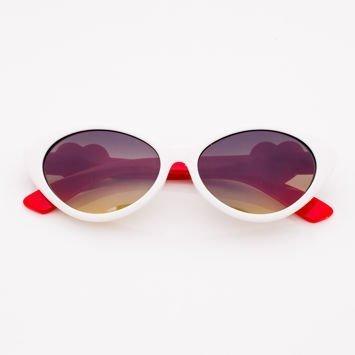 Białe Dziecięce Okulary przeciwsłoneczne