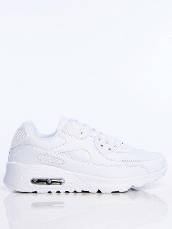 Białe buty sportowe faux leather The Winner na poduszce powietrznej