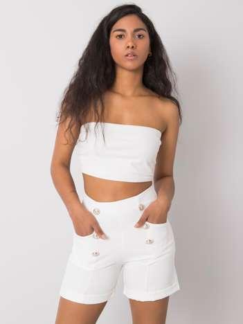 Białe eleganckie szorty Kendis