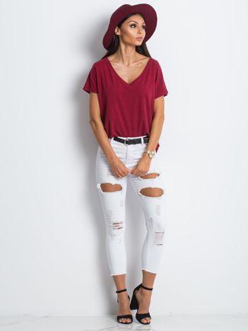 Białe jeansy Idiosyncratic