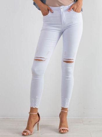 Białe jeansy Imperial