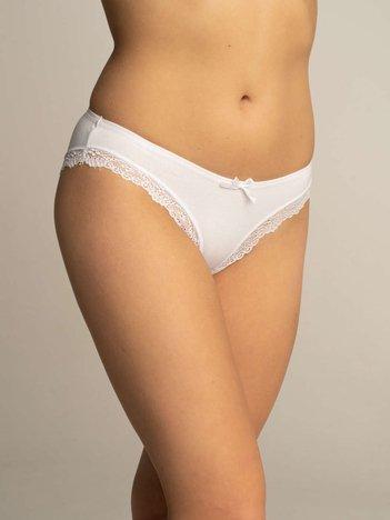 Białe majtki damskie