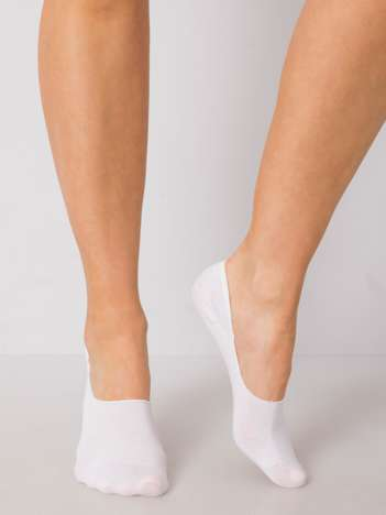 Białe skarpetki stopki z bawełny