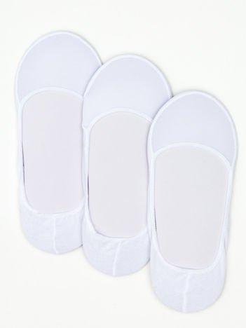 Białe skarpetki stopki zestaw 3 szt.