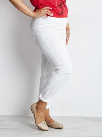Białe spodnie PLUS SIZE Imbalance